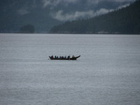 Canoe Journey send off 2014 in Gingolx